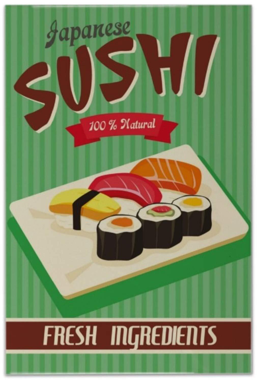 Azulejo Diversió n Nostá lgica Sushi de Japó n Ceramica impreso 20x30 cm Leotie GmbH