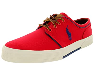 Polo Ralph Lauren Mens Faxon Low Red Sneaker  17