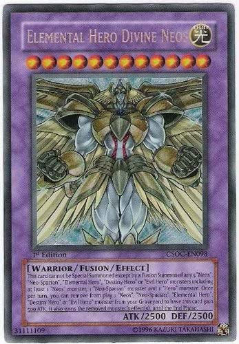 Ultra Rare Elemental HERO Divine Neos 1st Edit LCGX-EN077 FREE SHIPPING