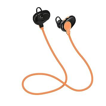 GAX Deportes Auricular Bluetooth, Línea De Fideos En El Oído Auriculares Inalámbricos Bluetooth, Auriculares Estéreo Bluetooth,Orange: Amazon.es: Deportes y ...
