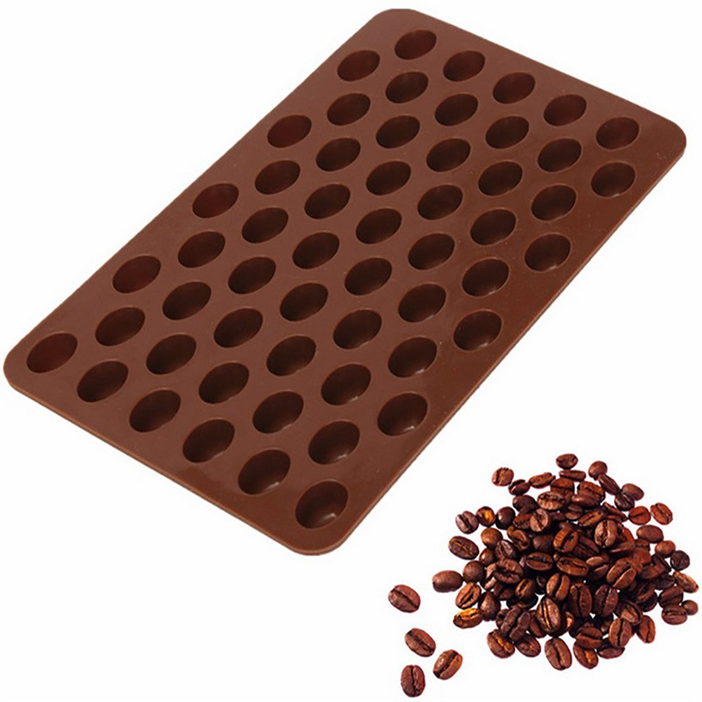 Little Story ???? Cake Mold, Silicone Chocolate Coffee Beans Mould Candy Cake Sweets 55 Cavity