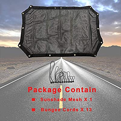 cartaoo Sunshade Mesh UV Protection Bikini Top Cover Net for 2007-2020 Jeep Wrangler JK JKU 4-Door Version (JK 2-Door / 4-Door No Pattern): Automotive