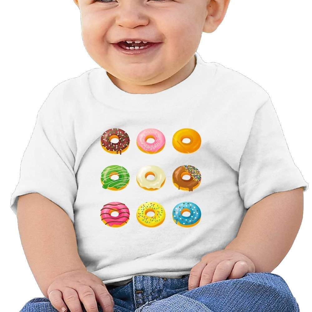 Cute Short-Sleeve Shirt Sweet Donuts Birthday Day 6-24 Months Baby Boy Toddler