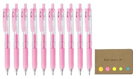Zebra Sarasa Clip 0.4mm extra fine roller ball pen gel ink Pink 5 pens pack