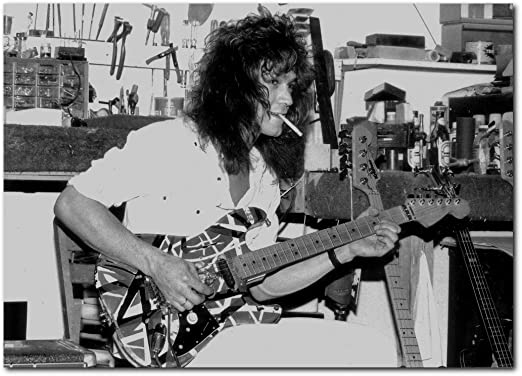 Amazon Com Wall Decor Eddie Van Halen Poster 13x19 Inches Ready To Frame For Office Living Room Dorm Guitar Workshop 1980 S Posters Prints