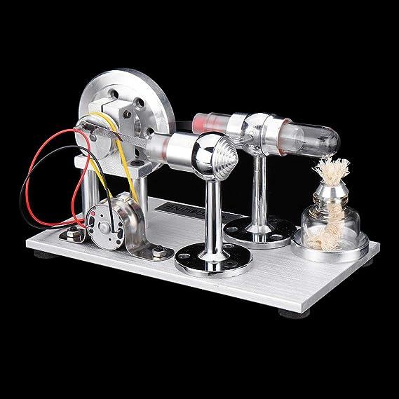 PQXOER Modelo de Motor Stirling Stem Doble Cilindro del Motor ...