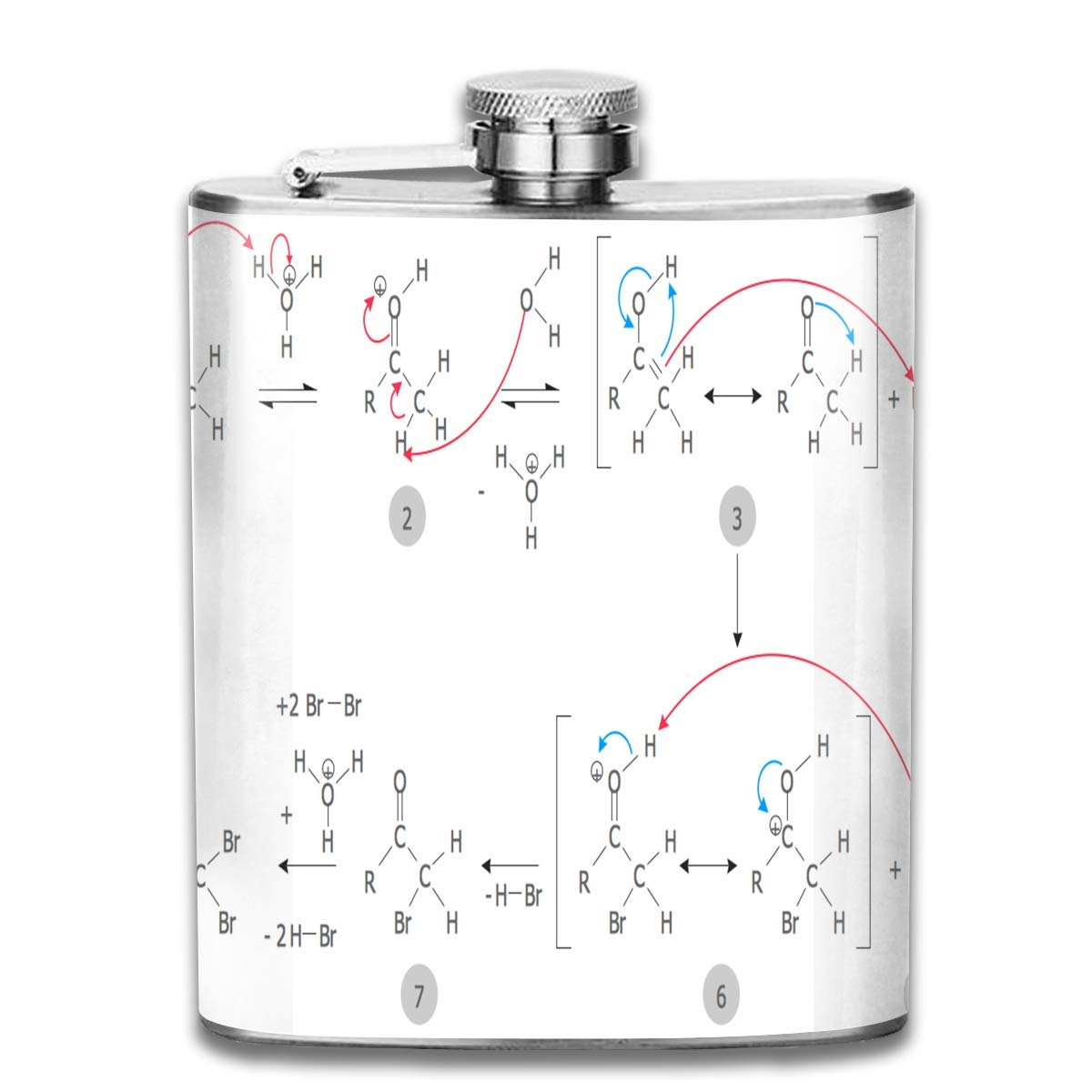 Rghkjlp Stainless Steel Flask Nebula Galaxy Whiskey Flask Vodka Portable Pocket Bottle Camping Wine Bottle 7oz Suitable for Men and Women Multicolor9