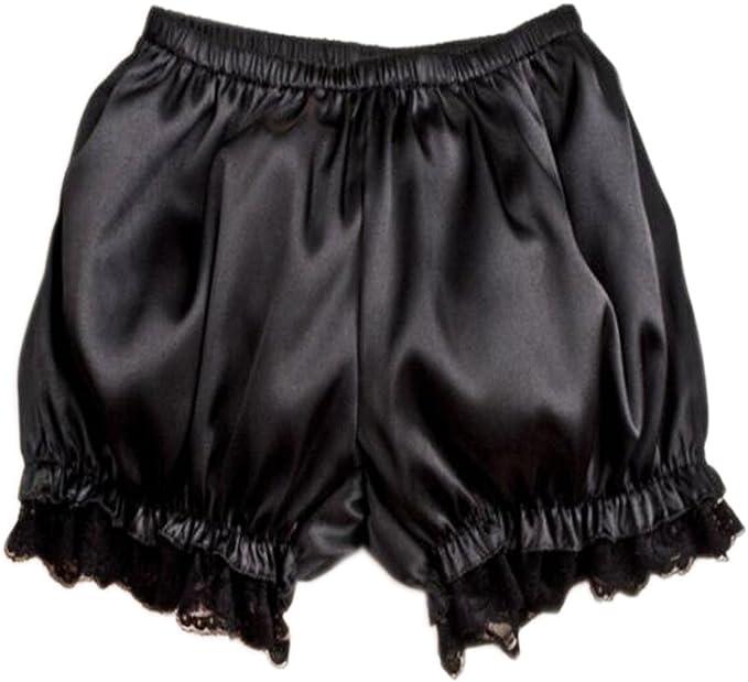 Women Lace Satin Bubble Bloomers Knickers Panties Safety Underwear Lolita Lovely