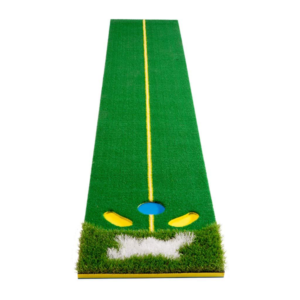 ゴルフパッティングマット 耐久性ゴルフマット 屋内/屋外用 - 練習マット スポーツ ゴルフ トレーニング 芝マット - 練習用ボール6個付き - 48×300cm   B07JDJW263