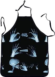 مريلة مطبخ مطبوع عليها جمجمة الشرير بطباعة رقمية للمطبخ للخبز والشواء والتنظيف المنزلي