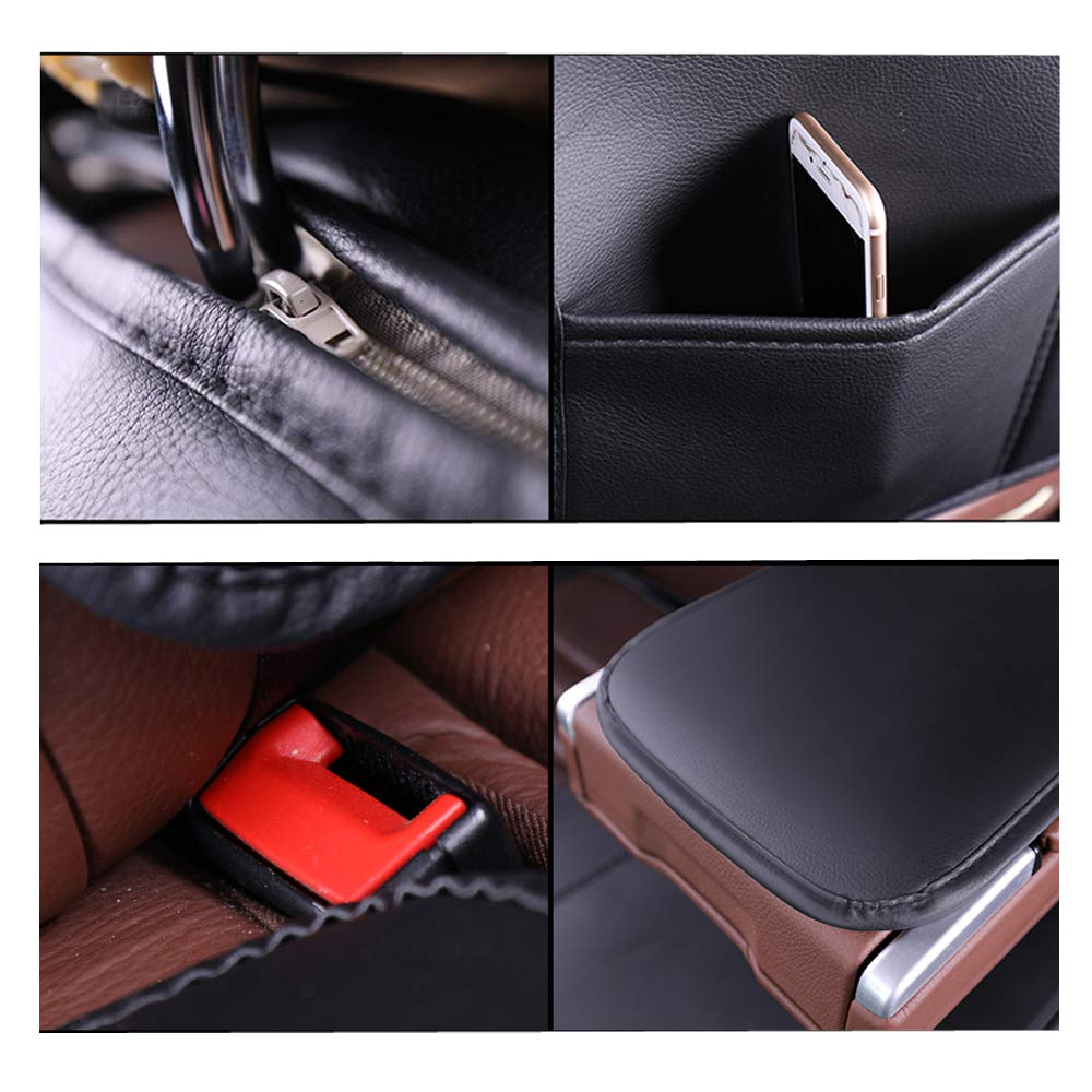 Super PDR Car Seat Cover Suv Black/&Beige or Van Waist Pillow for Truck 13 PCS Universal 5 Seat Full Leather Car Seat Cushion with Headrest