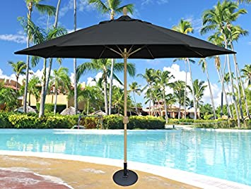 Tropishade 11 Sunbrella Patio Umbrella with Black Cover