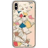 Capa Personalizada para Iphone XR - Livros Voando - Husky, Husky, Capa Protetora Flexível, Colorido