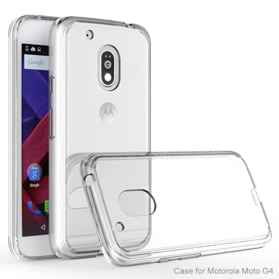 brand new c3edc 955a4 Amazon.com: Motorola Moto G4 Case, IVSO TPU Bumper with Crystal ...