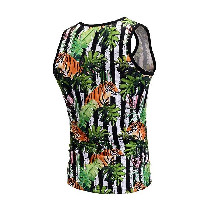 7e6138a7b082b Amazon.com  Dainzuy Men Tank Tops Fashion 3D Print Funny Pattern Casual  Sleeveless T Shirts Summer Plus Size Sport Vest Tops  Clothing