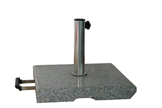 Base Ombrellone Con Ruote.Base Ombrellone Con Ruote 500 X 500 Mm Stabielo Granito
