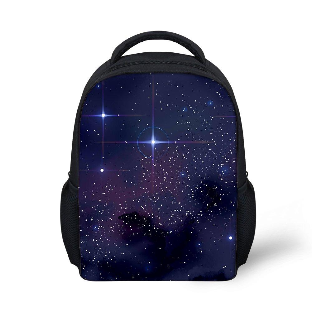 Hoijay Preschool Backpack, Little Kid Backpacks for Boys and Girls Galaxy Shining Doji Star