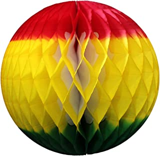 product image for 6-Pack 12 Inch Honeycomb Tissue Paper Ball Decoration (Fiesta - Red/Yellow/Green)