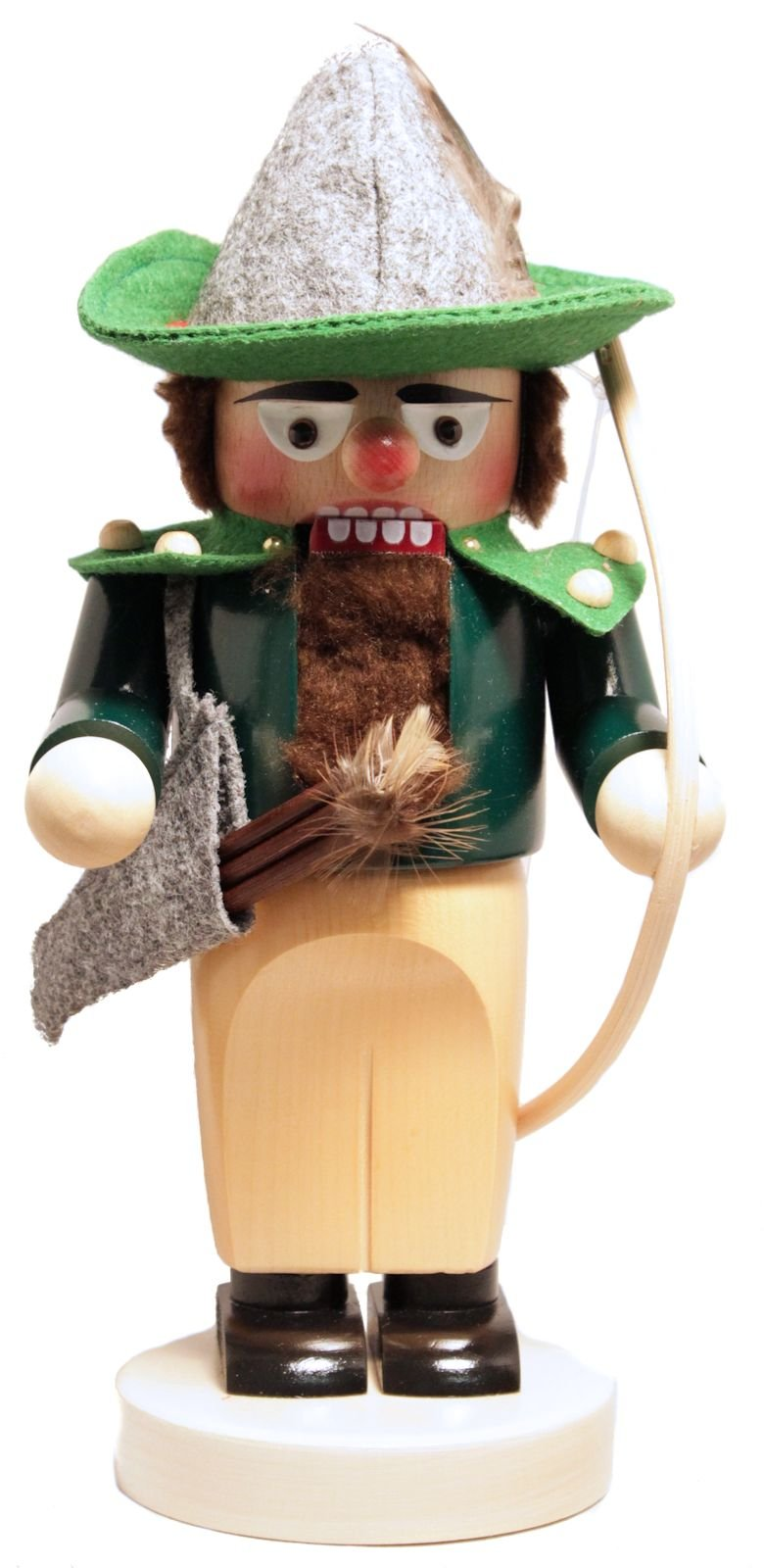 Steinbach SIGNED Chubby Robin Hood German Wooden Christmas Nutcracker Decoration
