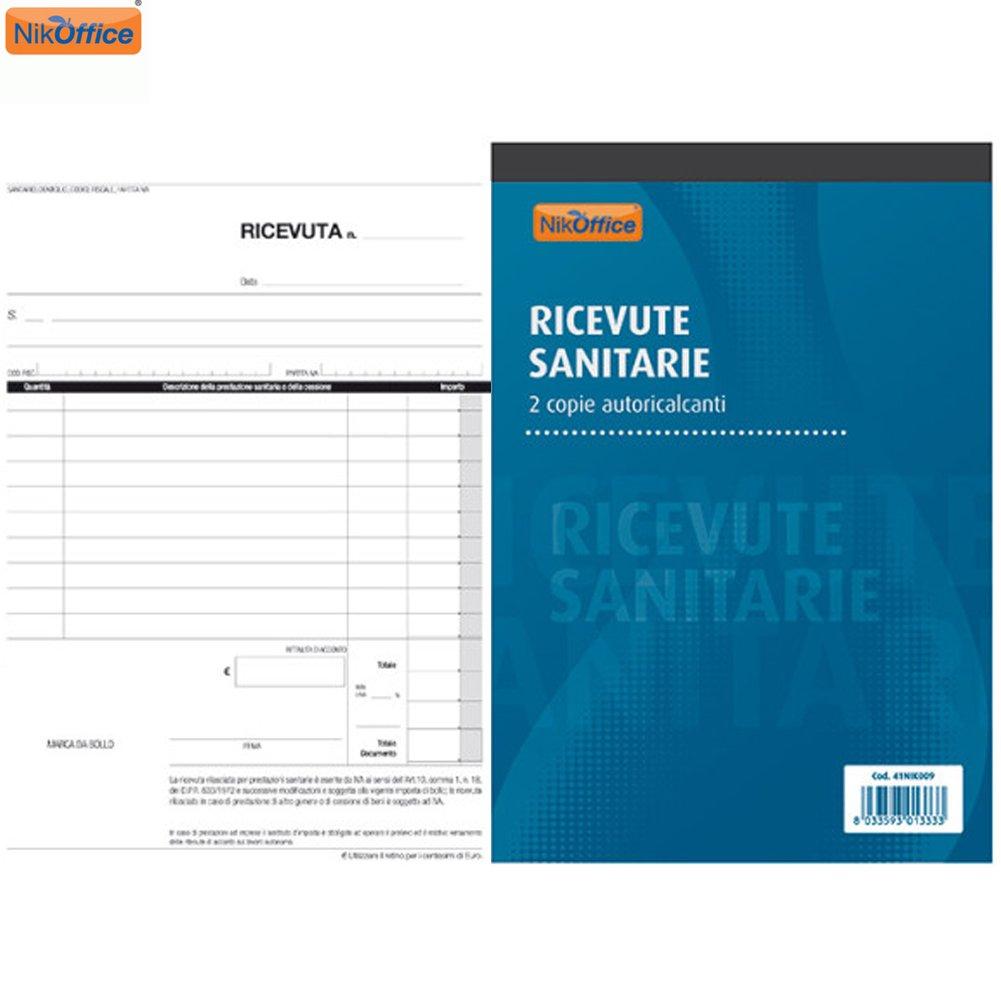 Blocco Ricevute Sanitarie A 2 Copie Autoricalcanti A5 Ufficio Cancelleria NickOffice NikOffice