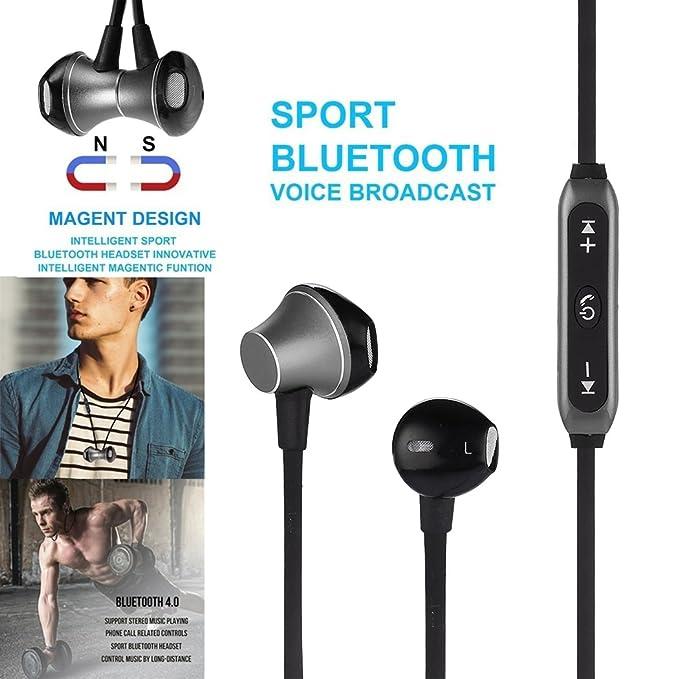 gfone Bluetooth Auriculares In-Ear inalámbrico Auriculares Earbuds, Mando a Distancia y micrófono, Wireless Stereo Headset para iOS y Android, ...