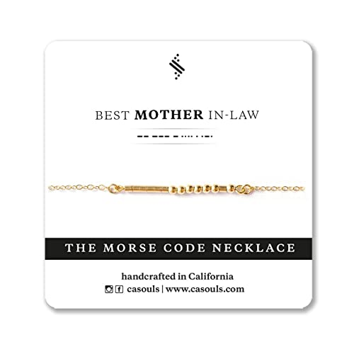 Best Mother In Law Morse Code Bracelet Or Necklace In Sterling Silver 14k Gold Filled Handmade Jewelry For Mom Mother In Law Wife Grandma Mothers Day