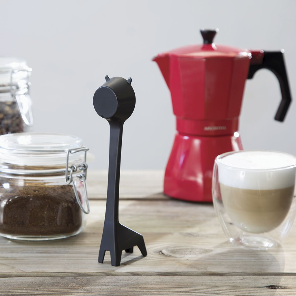 Lungo Long Handled Coffee Measure Scoop, Novelty Measuring Spoon, Black Plastic, by Monkey Business by Monkey Business (Image #4)