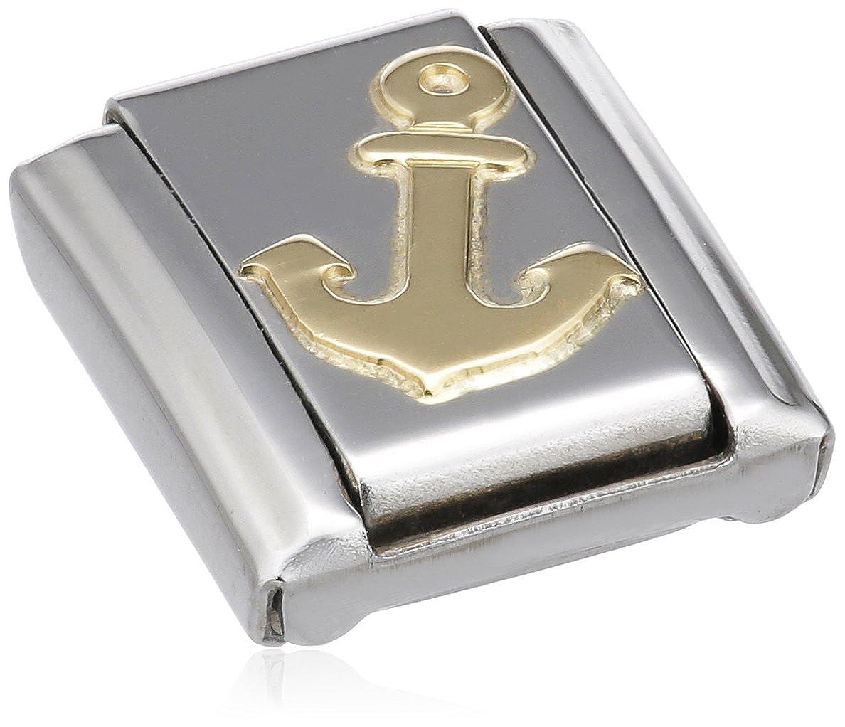 Nomination 030106 - Maillon pour bracelet composable - Femme - Acier inoxydable et Or jaune 18 cts