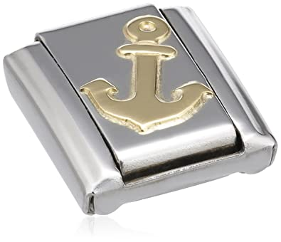Nomination Composable Classic Sport Anchor Stainless Steel and 18K Gold 2g99u