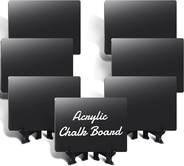 40 Pcs Acrylic Mini Chalkboards Signs, 4