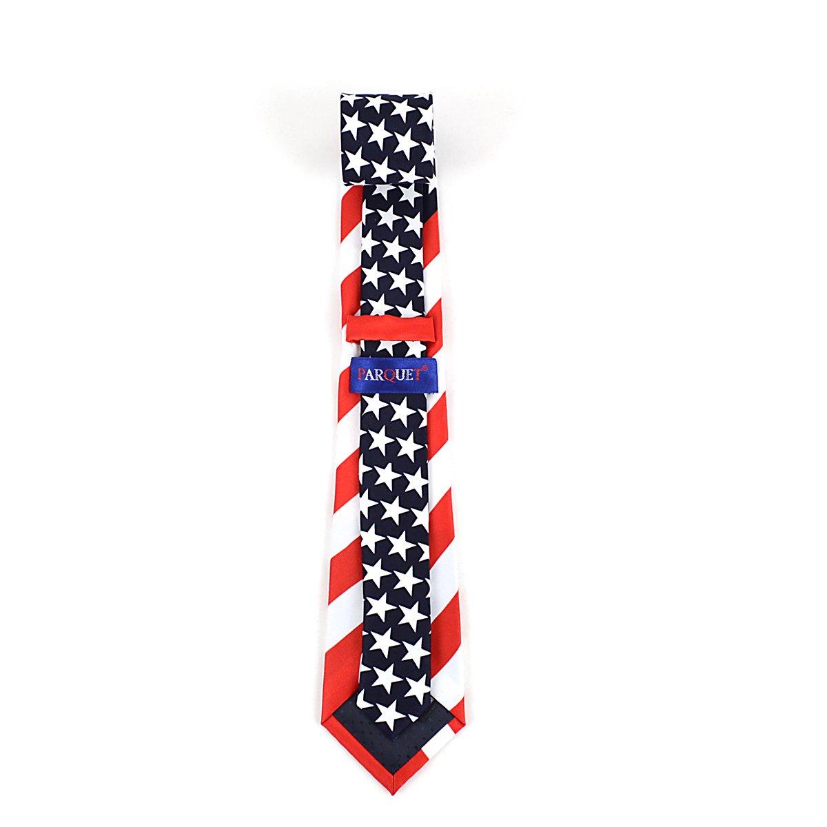 Parquet American Flag Novelty Boys Tie
