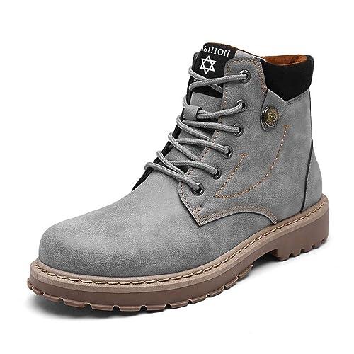 QUICKLYLY Botas para Hombre Calzado De Protección Zapatos Moda De Tacón Alto Casuales Botines Martin: Amazon.es: Zapatos y complementos