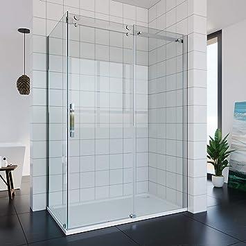 Mampara de ducha de cristal de 100-150 cm, 195 cm de altura: Amazon.es: Bricolaje y herramientas