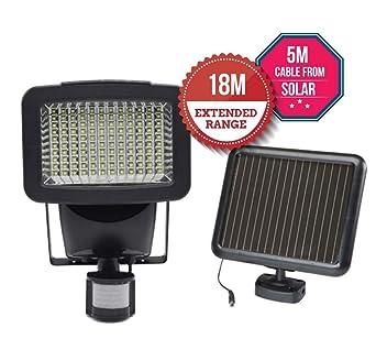 Luz de seguridad solar, sensor de movimiento para la pared del garaje del patio del