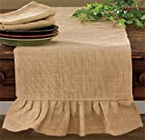 country kitchen table runners Shabby Country Jute Burlap Table Runner Kitchen Home Décor Accent 42