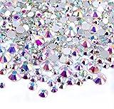 gem 2mm - 2x 450 pcs 2mm - 6mm Resin Crystal AB round Nail Art Mixed Flatbacks Rhinestones Gems Mix SIZE ~ M1 - 30 [By Zealer]