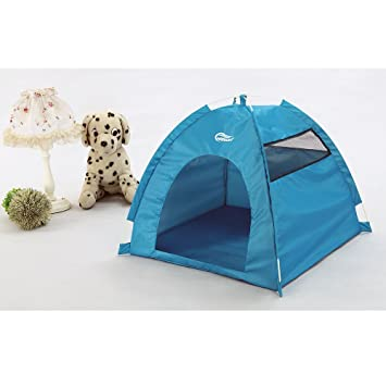 One-Touch Portable Folding large Dog House tent for indooroutdoor waterproof (blue  sc 1 st  Amazon.com : dog kennel tent - memphite.com