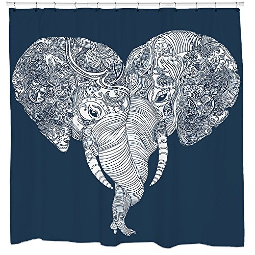 Sharp Shirter Punch Trunk Love Shower Curtain     (70.8