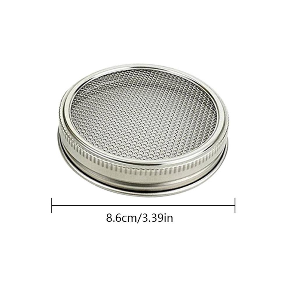Leegoal Sprouting Kit Sifting and Straining Set of 2 Stainless Steel Sprouting Lids for Wide Mouth Mason Jars and Canning Jars Multifunctional Mesh Strainer Lids for Sprouts