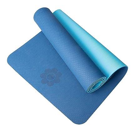 HIPPOSEUS Colchón para Yoga y Ejercicios, Grosor Adicional de 6 mm y 8 mm, 183 x 61 cm, Ideal para Ejercicios en el Suelo, Gimnasia, Acampada, ...