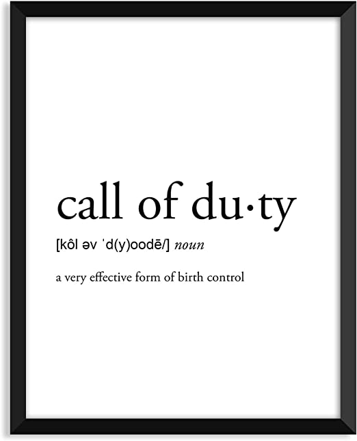 Amazon Com Serif Design Studios Call Of Duty Definition Unframed Art Print Poster Or Greeting Card Posters Prints