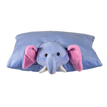 Ultra Cute Animal Folding Cushion Soft Toy, 18 x 13 inches (Elephant)