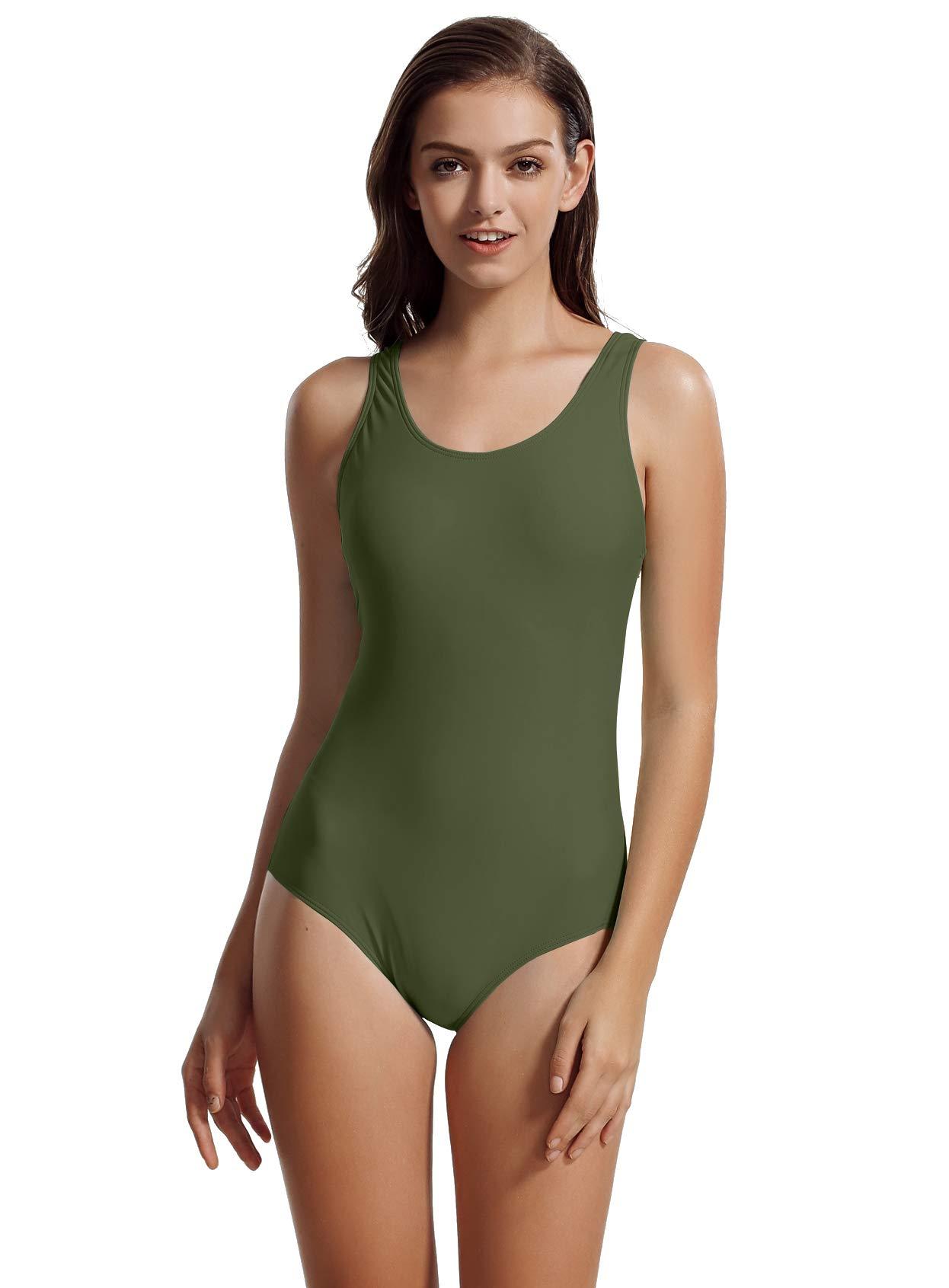 087ad0935 zeraca Women s Sport Racerback One Piece Swimsuit Swimwear product image