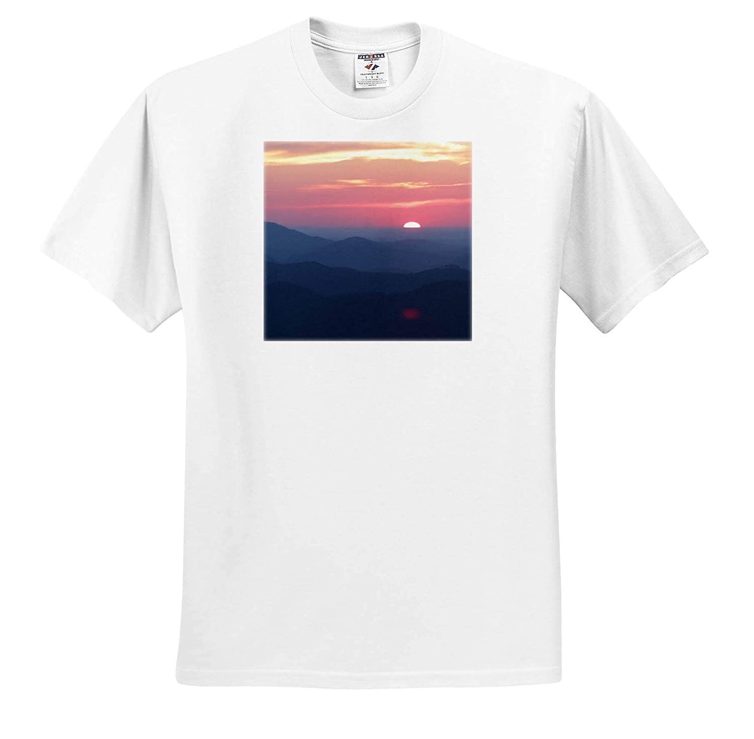 Landscape Photo of a Breathtaking Sunrise Overlooking The Blue Ridge Mountains 3dRose Stamp City - T-Shirts