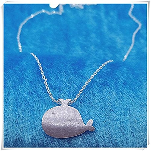 One Life ,one jewerly Whale Necklace, Sterling Silver Whale Charm on a Silver Cable Chain