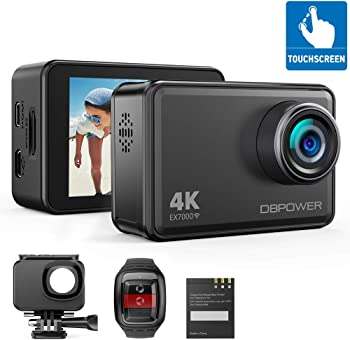 DBPOWER EX7000 14MP 4K Touchscreen Waterproof Sports Action Camera