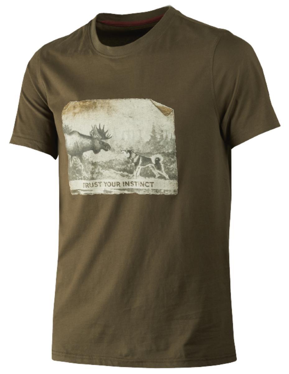 Harkila Odin Moose /& Dog t-shirt Willow green