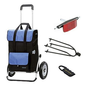Andersen - Carro de Compra Royal XXL con Bolsa Vektor Azul, Ruedas neumaticas y Kit de Acoplamiento para Bicicleta: Amazon.es: Hogar