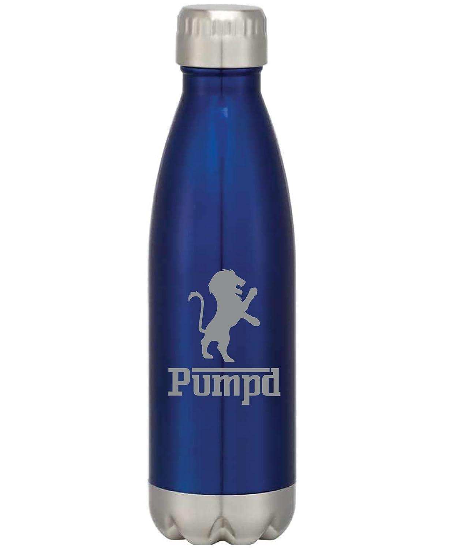 Pumpdステンレススチール真空ボトル16オンス(ブルー)   B0795XQJ1Y