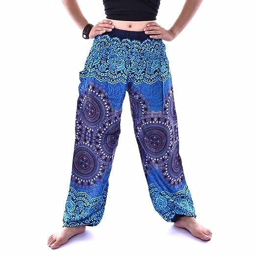 c068222f74612 GINELO Print Loose high Waist Lantern Yoga Pants Thai Harem Trousers Boho Festival  Hippy Pants,